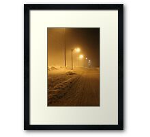 Winter street. Small town. Framed Print