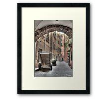 Camogli Alley Framed Print