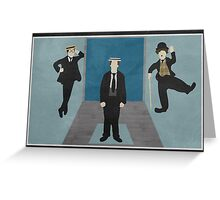 Silent Comedy Stars Greeting Card