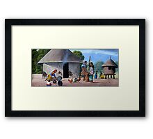 Kikuyu traditional homestead Framed Print