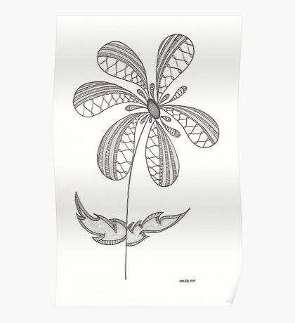 Simple Flower Poster