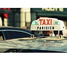 Taxi Parisien Photographic Print