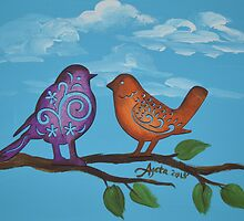 Birds in Love by Agata Lindquist