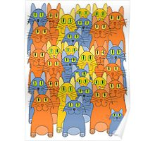 Thirty-One Kitty Cats Poster