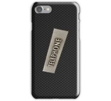 CARBON FIBER TELEPHONE. iPhone Case/Skin