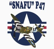Snafu P47 Tee Shirt  by Colin J Williams Photography