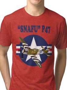Snafu P47 Tee Shirt  Tri-blend T-Shirt