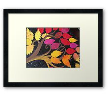 Autumn- made from recycled maths books Framed Print