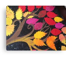 Autumn- made from recycled maths books Canvas Print