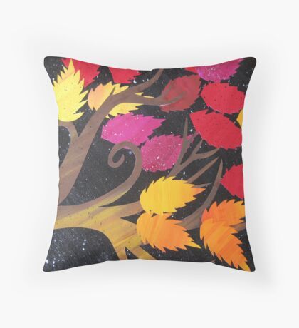 Autumn- made from recycled maths books Throw Pillow