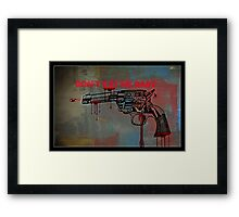 Don't kill my baby Framed Print