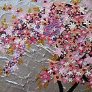 blue and pink and purple sakura by cathyjacobs