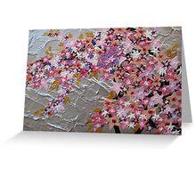 blue and pink and purple sakura Greeting Card