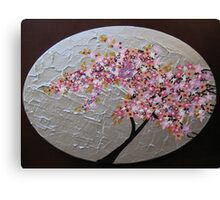 sakura oval Canvas Print