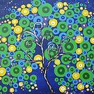 peacock tree II by cathyjacobs