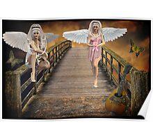 Ƹ̴Ӂ̴Ʒ ANGELS OF CANCER AWARENESS Ƹ̴Ӂ̴Ʒ Poster