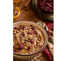 Oatmeal - Comfort food for breakfast Photographic Print