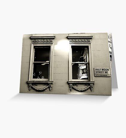 Dressed windows in Half moon street  Greeting Card