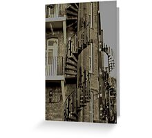 Spiral staircases in Muswell Hill  Greeting Card