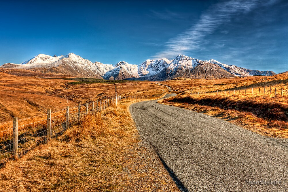 Road To The Cuillins by hebrideslight