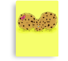 Chocolate Chip Cookie Family Canvas Print