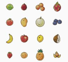 Pixel Fruits Set 2 by banafria