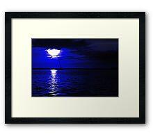 Dredge Barge Framed Print