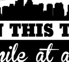 Boston Marathon, One Mile At A Time Sticker
