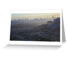 Silhouette San Francisco Greeting Card