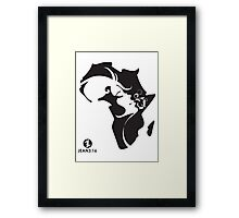 Young Arty African Woman T-Shirt Unisex Framed Print