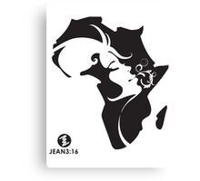 Young Arty African Woman T-Shirt Unisex Canvas Print