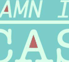 """""""Damn It Cas"""" T-shirt Sticker"""