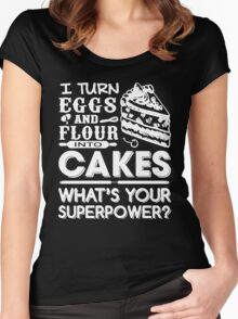 Flour Into Cakes Women's Fitted Scoop T-Shirt