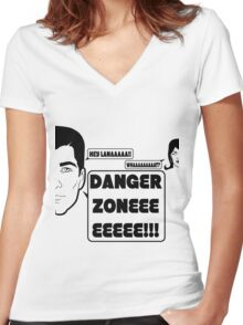 Dangah Zone BLK Women's Fitted V-Neck T-Shirt
