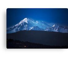 Mount Baker at Night Canvas Print