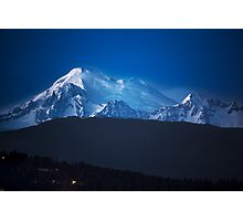 Mount Baker at Night Photographic Print