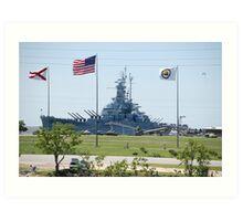 Battleship U.S.S. Alabama..... Art Print