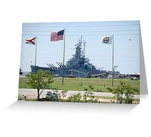 Battleship U.S.S. Alabama..... Greeting Card
