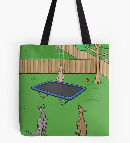 Kangaroo Trampoline Bounce Tote Bag