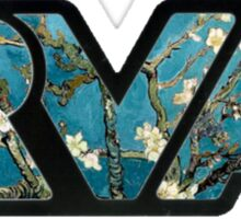 rva - van gogh, branches with almond blossom Sticker