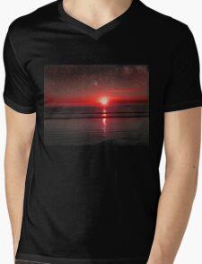 Sea View Mens V-Neck T-Shirt