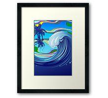Sea Ocean big Wave Water  Framed Print