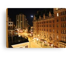Empress Hotel at NIght - Side View Canvas Print