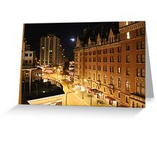 Empress Hotel at NIght - Side View Greeting Card