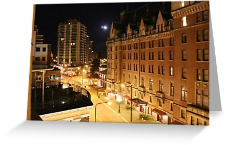 Empress Hotel at NIght - Side View by islandphotoguy