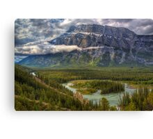 Bow Valley Green Canvas Print