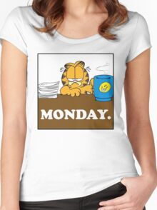 Garfield I Hate Monday Women's Fitted Scoop T-Shirt