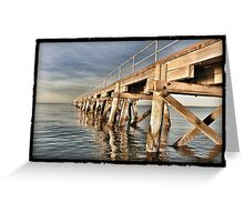 The Jetty at Port Germein, South Australia Greeting Card