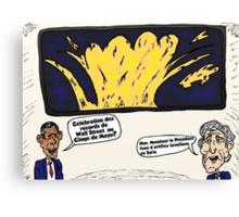 Obama Kerry Caricature d'Affaires du Cinqo de Mayo Canvas Print