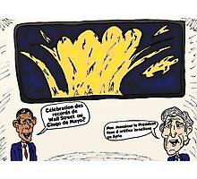 Obama Kerry Caricature d'Affaires du Cinqo de Mayo Photographic Print
